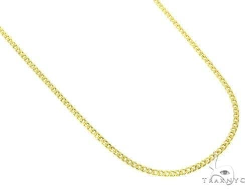 Mens 10k Hollow Yellow Gold Cuban/curb Chain 26 Inches 2.4mm 2.95 Grams 47226 Gold