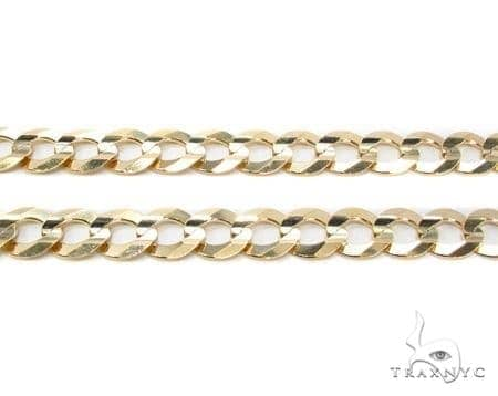 Mens 10k Hollow Yellow Gold Cuban/curb Chain 32 Inches 8.8mm 32.81 Grams 47256 Gold