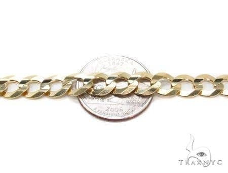 Mens 10k Hollow Yellow Gold Cuban/curb Chain 30 Inches 8mm 47.30 Grams 47260 Gold