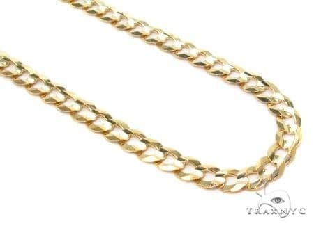 Mens 14k Solid Yellow Gold Cuban/curb Chain 20 Inches 3mm 5.54 Grams 47293 Gold