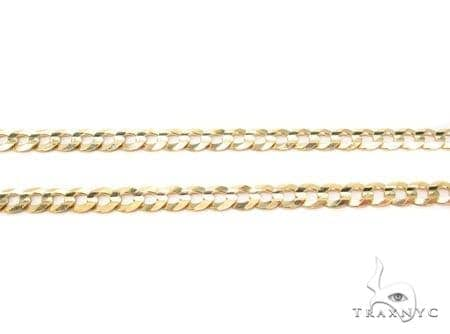 Mens 14k Solid Yellow Gold Cuban/curb Chain 24 Inches 3mm 6.1 Grams 47295 Gold