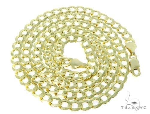Mens 14k Solid Yellow Gold Cuban/curb Chain 24 Inches 7.2mm 27.84 Grams 47311 Gold