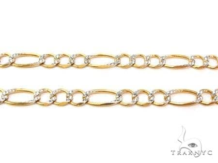 a1851c3ae Mens 14k Solid Yellow Gold Figaro Chain 22 Inches 6.7mm 27.13 Grams 47349  Gold