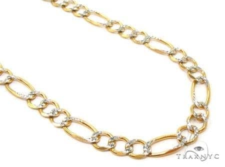 Mens 14k Solid Yellow Gold Figaro Chain 26 Inches 7mm 42.20 Grams 47354 Gold