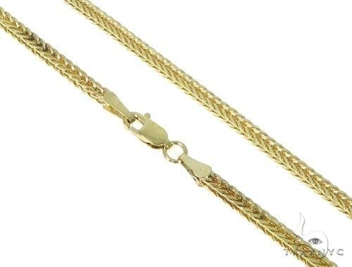 Mens 10k Solid Yellow Gold Foxtail Chain 30 Inches 1.8mm 13.87 Grams 47376 Gold