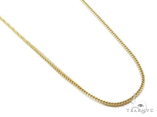 Mens 10k Solid Yellow Gold Franco Chain 24 Inches 2mm 11.54 Grams 47407 Gold