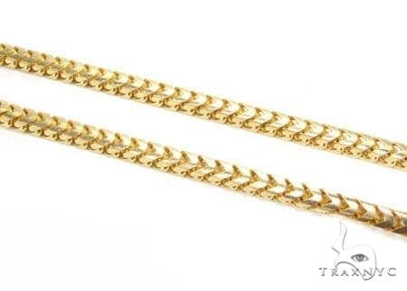 Mens 10k Solid Yellow Gold Franco Chain 34 Inches 3mm 55.45 Grams 47653 Gold