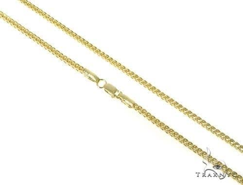 Mens 10k Hollow Yellow Gold Franco Chain 38 Inches 2.6mm 19.10 Grams 47668 Gold