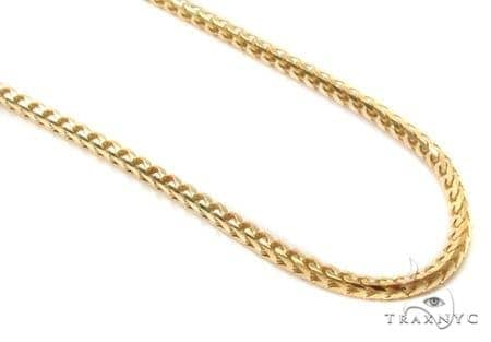 Mens 10k Solid Yellow Gold Franco Chain 24 Inches 1.5mm 12.2 Grams Gold