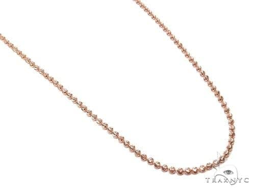 Mens 14k Solid Rose Gold Moon Cut Chain 24 Inches 1.8mm 6.34 Grams 48275 Gold