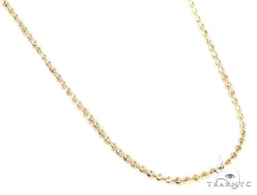 Mens 10k Solid Yellow Gold Moon Cut Chain 26 Inches 1.8mm 5.99 Grams 48439 Gold