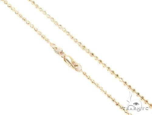 Mens 14k Solid Yellow Gold Moon Cut Chain 26 Inches 2mm 8.84 Grams 48484 Gold