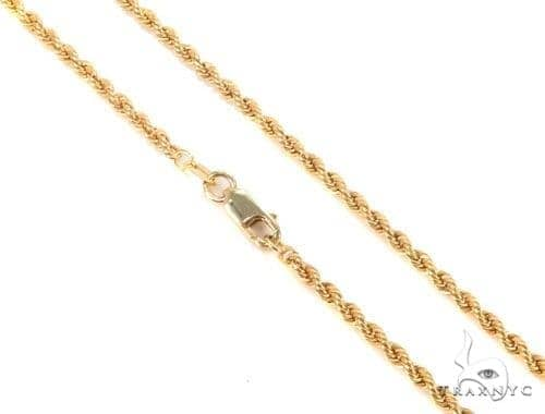 Mens 10k Hollow Yellow Gold Rope Chain 20 Inches 3mm 5.20 Grams 48531 Gold