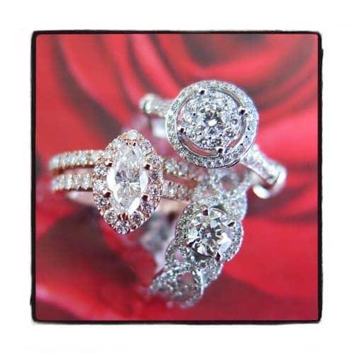 Prong Diamond Engagement Ring 44487 Engagement