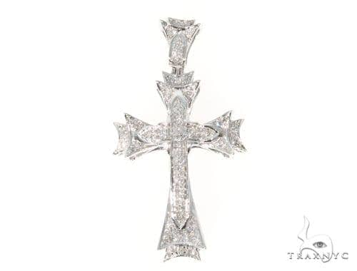 Prong Diamond Cross Crucifix 45544 Diamond