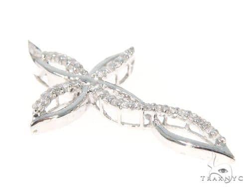 Prong Diamond Cross Crucifix Pendant 45552 Diamond Cross Pendants