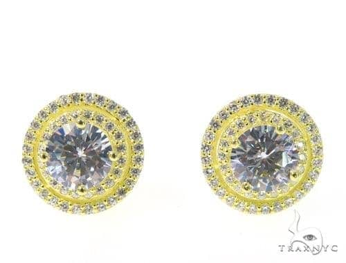 Small CZ Sterling Silver Earrings 48920 Metal