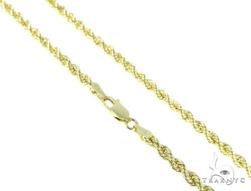 10K Yellow Gold Rope n 24 Inches 3 mm 6 Grams 48930 Gold