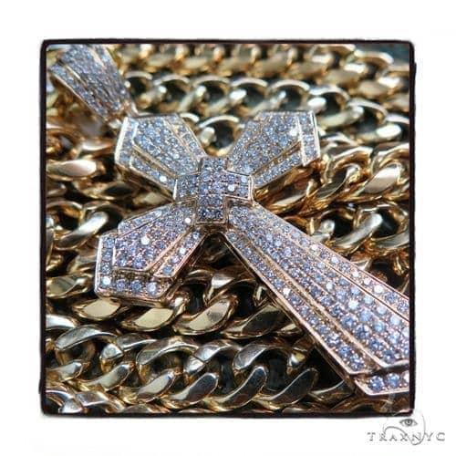 Prong Diamond Cross Pendant 48968 Diamond
