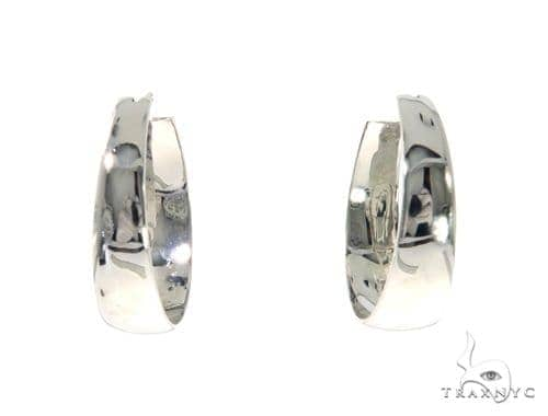 14K White Gold Hoop Earrings 48973 Style