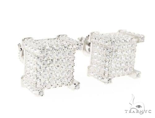 CZ  Silver Earrings 49052 Metal