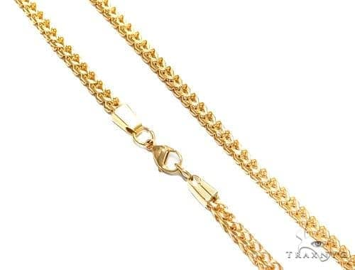 Franco Stainless Steel Chain 24 Inches 4mm 34.7 Grams 43801 Stainless Steel