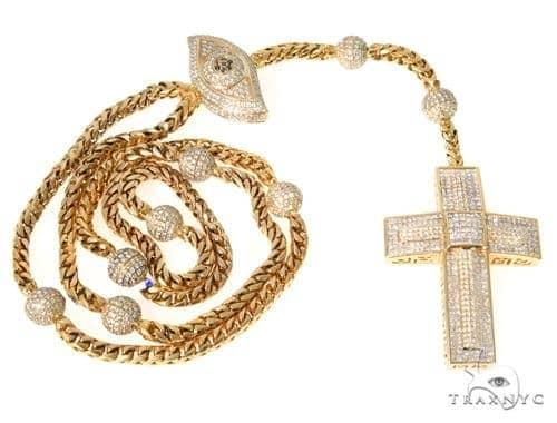 Invisible Diamond Cross Crucifix Chain 49109 Diamond