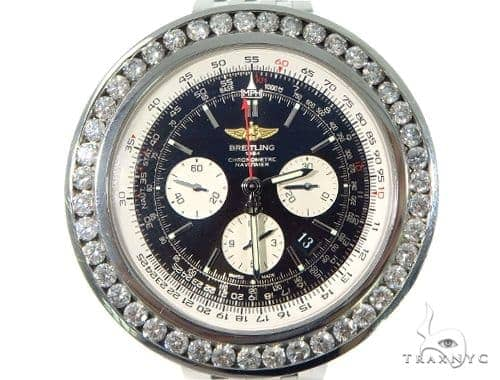 Channel Diamond Breitling Navitimer Watch 49169 Breitling