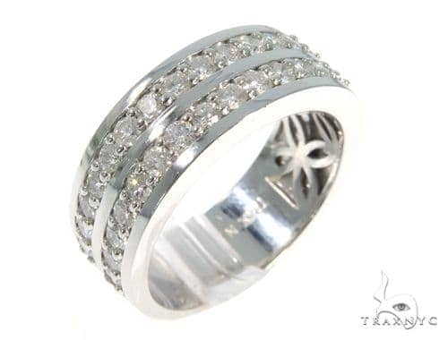2 Row Diamond Ring 49167 Stone