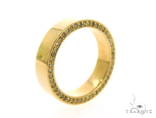 Yellow Gold Canary Diamond Eternity Prong Ring Stone