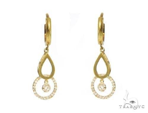 Water Drop Diamond Earrings 49246 10k, 14k, 18k Gold Earrings