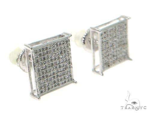 Prong Diamond Earrings 49222 Stone
