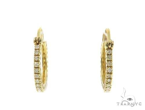 Prong Diamond Hoop Earrings 49209 10k, 14k, 18k Gold Earrings
