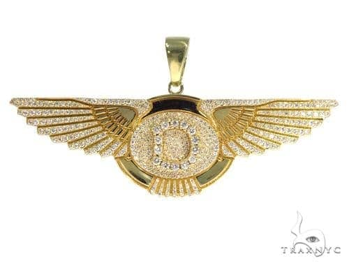 'D' Eagle Diamond Pendant 45361 Metal