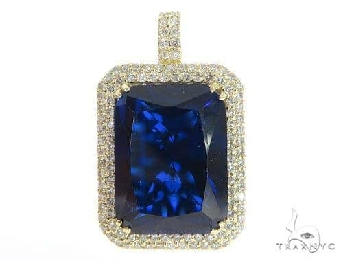 Prong Diamond Blue Fancy Pendant 49017 Metal