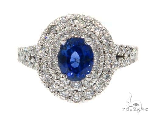 Blue Sapphire Diamond Ring 48989 Anniversary/Fashion