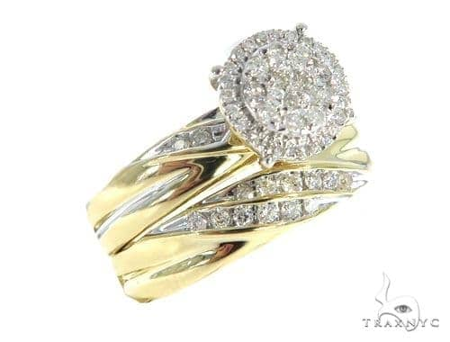 Prong Diamond Engagement Couple Ring Set 43999 Engagement