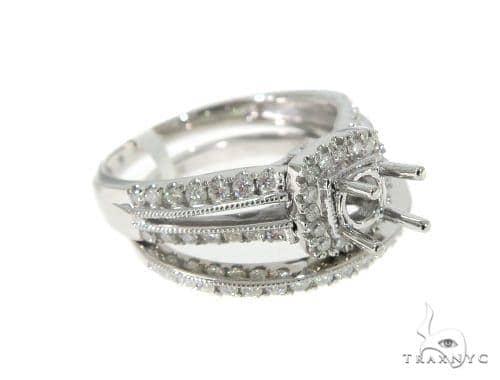 Prong Diamond Engagement Semi Mount Ring Set 44002 Engagement