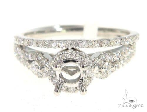 Prong Diamond Engagement Semi Mount Ring Set 44016 Engagement