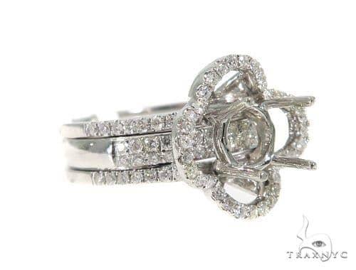 Prong Diamond Engagement Semi Mount Ring 44021 Engagement