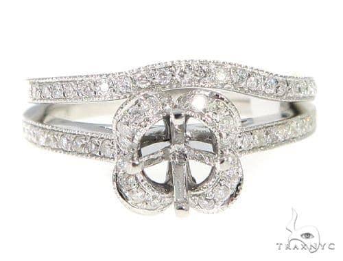Prong Diamond Engagement Semi Mount Ring Set 44023 Engagement