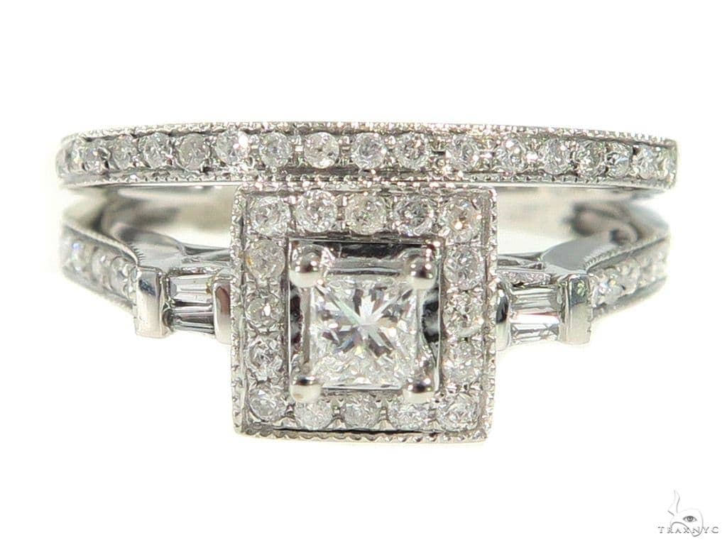 Square Head Diamond Engagement Ring Set 44026 Engagement