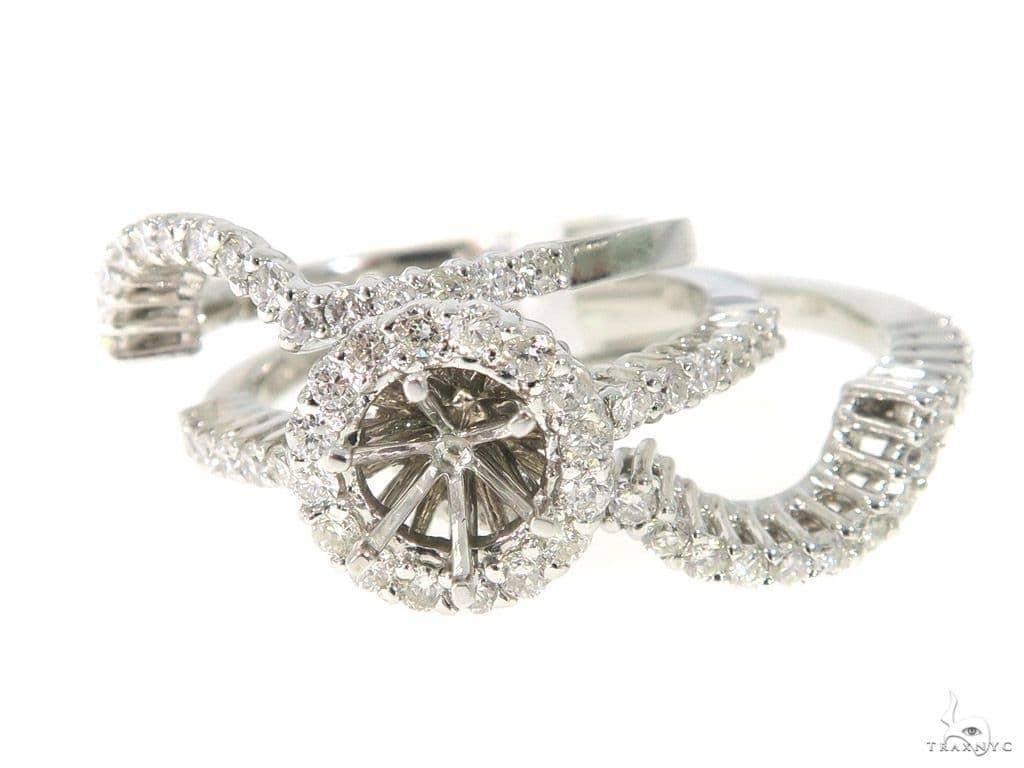 Prong Diamond Engagement Ring Set 44040 Engagement