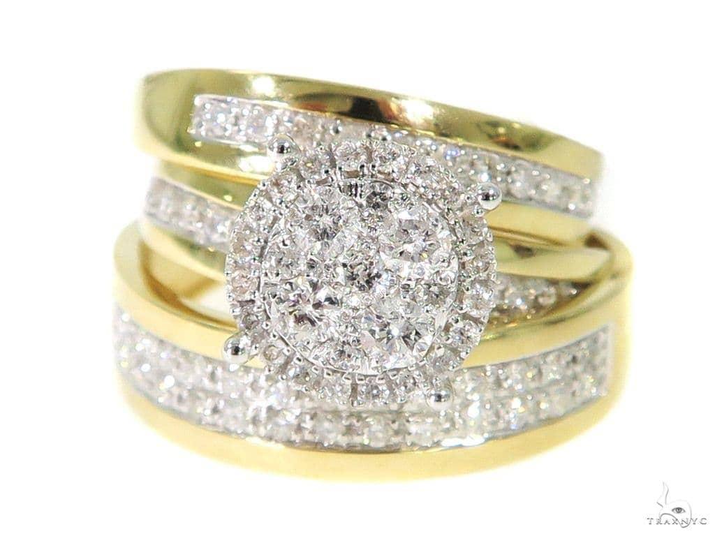Prong Diamodn Engagement Couple Ring 44041 Engagement