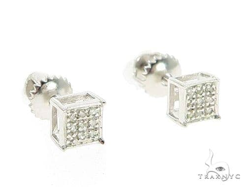 Prong Diamond Stud Earrings 49354 Metal