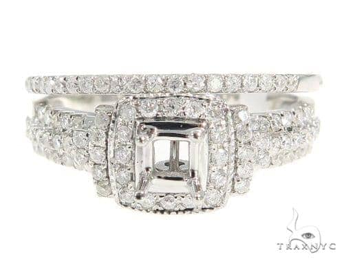 Prong Diamond Engagement Semi Mount Ring Set 49378 Engagement