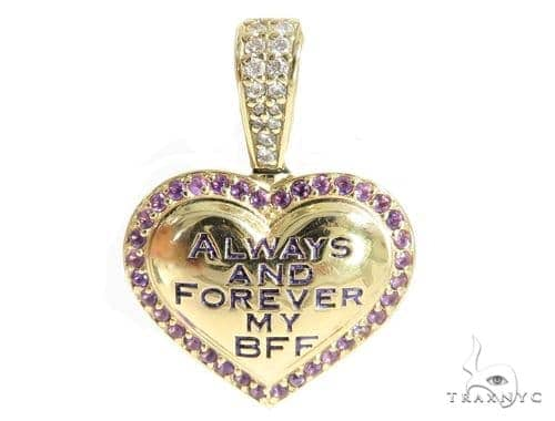 Heart Diamond Amethyst Pendant 49415 Stone