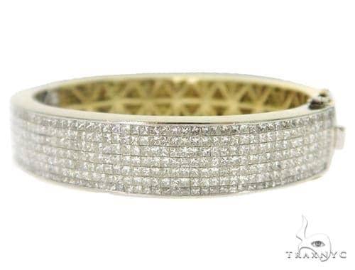 Two Tone Invisible Diamond Bracelet 49426 Diamond
