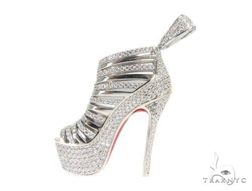 High Heel Silver Pendant 49489 Metal