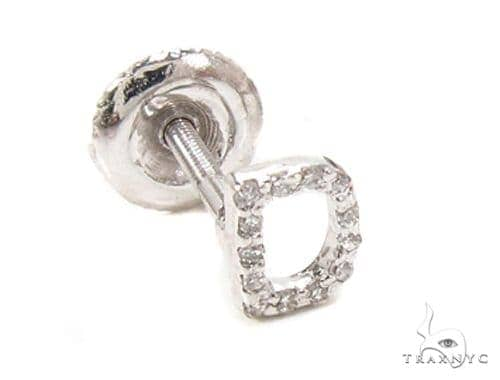 Prong Diamond  Initial 'D' Single Earring 49518 Stone